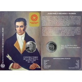 ESTUCHE JUAN PABLO VISCARDO Y GUZMÁN (paquete de 5 estuches)