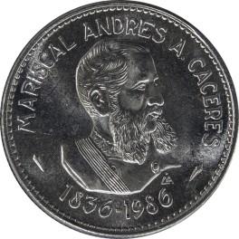 150 ANIVERSARIO DEL NACIMIENTO DEL MARISCAL ANDRÉS A. CÁCERES (100 Intis)